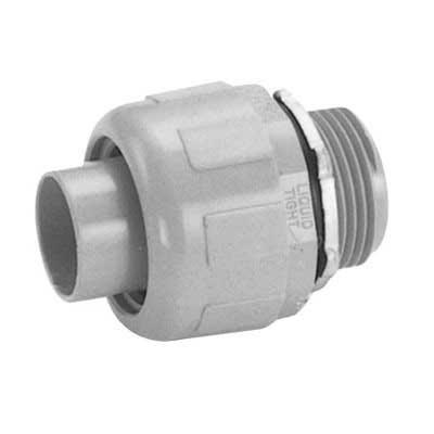 Carlon LT100G Carflex® Straight Liquidtight Non-Metallic Omni Connector; 1 Inch, Nylon 6/6