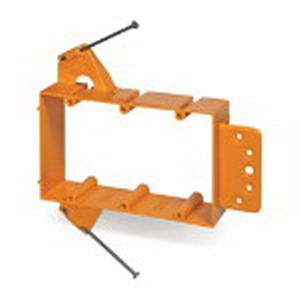 Carlon SC300A 3-Gang Low Voltage Bracket; Orange