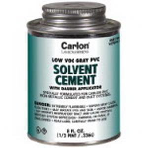 Carlon VC9LV2 Low VOC PVC Cement; 1 Quart Can, Gray