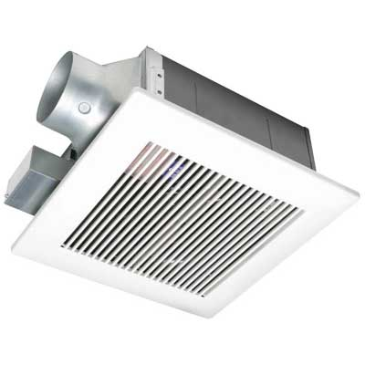 Panasonic FV-11VF2 WhisperFit Low Profile Ventilation Fan 33.5 Watt 120 Volt 0.28 Amp 110/94 cfm 1.5 Sones Ceiling Mount