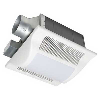 Panasonic FV-08VFL2 WhisperFit-Lite Low Profile Ventilation Fan With Light 120 Volt 0.25 Amp 80 cfm at 0.10 Inch SP 63 cfm at 0.25 Inch SP 0.5 Sones Ceiling Mount Square White