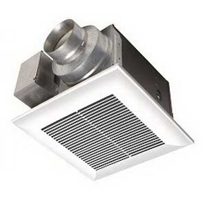 Panasonic FV-11VQ5 Whisper Ceiling Mount™ Ventilation Fan; 21.1/20.7 Watt, 120 Volt, 0.18/0.17 Amp, 110/91 cfm, 0.3/0.5 Sones, Ceiling Mount