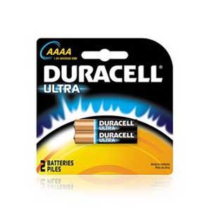 Duracell MX2500B2 Ultra&reg AAAA Alkaline Battery; 1.5 Volt, 625 Milli Amp-Hour