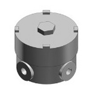 Red Dot EXUN-22 Conduit Box; 3-31/32 Inch Length x 3-3/8 Inch Height, Die-Cast Aluminum