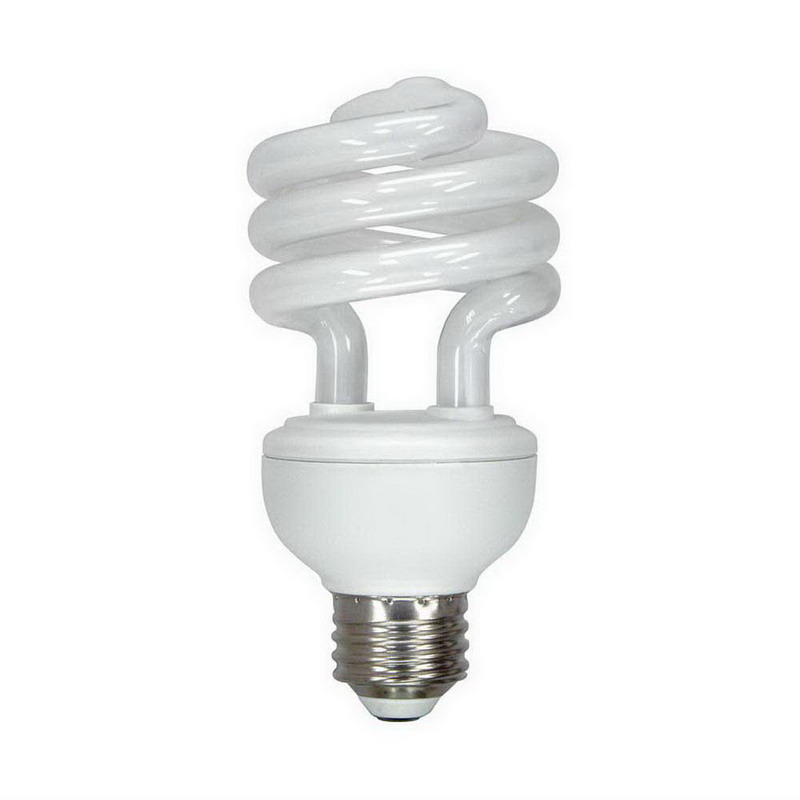 GE Lighting FLE20HT3/2/D/CD Energy Smart Self-Ballasted T3 Spiral Compact Fluorescent Lamp; 20 Watt, 6500K, Daylight