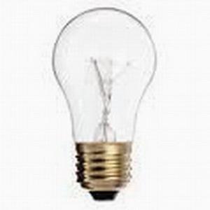 GE Lamps 40A15CL/PRO-130V-130 Proline® Incandescent Bulb; 40 Watt, 130 Volt, A15, Medium Screw (E26) Base, 1500 Hour Life