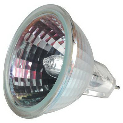 GE Lamps Q50MR16/FL/PRO-12 Proline® Halogen Lamp; 50 Watt, 12 Volt, 2900K, Bi-Pin (GX5.3) Base, 2000 Hour Life, Clear