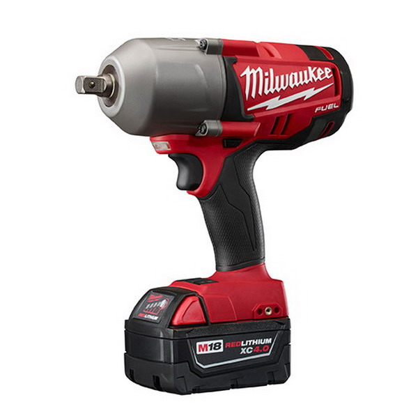 Milwaukee Tools 2762-22 M18 Fuel™ High Torque Electric Brake Impact Wrench; 18 Volt, M18™ Red Lithium™ XC 4.0 Battery, 350 ft-lb Torque