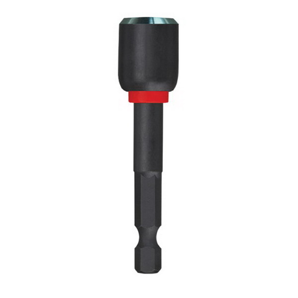 Milwaukee Tool  49-66-4537 Shockwave™ Power Groove Red Color Coded Magnetic Nutdriver; 1/2 Inch Drive, 2-9/16 Inch Overall Length