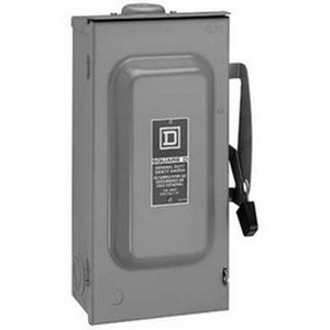 """""Schneider Electric / Square D D222NRBCP Fusible General Duty Disconnect Switch 60 Amp, 240 Volt, 2 Pole,"""""" 107982"