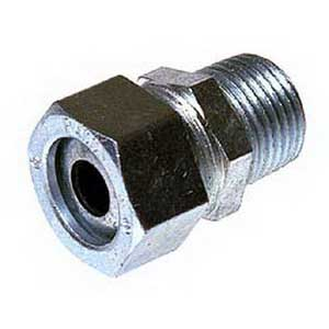 Hubbell Electrical / RACO 3704-2 Straight Cord Grip Connector 1 Inch  0.700 - 0.850 Inch  Steel