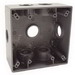 Hubbell Electrical / RACO 5346-0 2-Gang Weatherproof Box; 4-1/2 Inch Width x 2-1/4 Inch Depth x 4-1/2 Inch Height, Die-Cast Aluminum, Gray