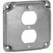 Hubbell Electrical / RACO 902C Raco® Crushed Corners Raised Exposed Square Surface Cover; 1/2 Inch Depth, Steel, 6.5 Cubic-Inch