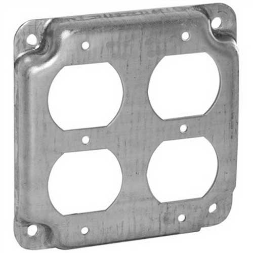 Hubbell Electrical / RACO 907C Raco® Raised Exposed Square Surface Cover; 1/2 Inch Depth, Steel, 6.5 Cubic-Inch