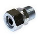 Hubbell Electrical / RACO 3702-6 Straight Cord Grip Connector; 1/2 Inch, 0.500 - 0.600 Inch, Steel