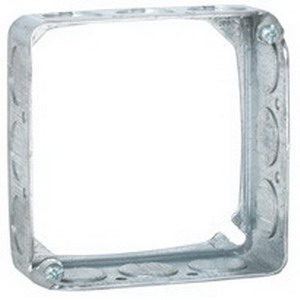 Hubbell Electrical / RACO 201 Square Extension Ring; 4 Inch Width x 1-1/2 Inch Depth x 4 Inch Height, Drawn Sheet Steel, 22.5 Cubic-Inch