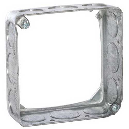 Hubbell Electrical / RACO 203 Square Extension Ring; 4 Inch Width x 1-1/2 Inch Depth x 4 Inch Height, Drawn Sheet Steel, 22.5 Cubic-Inch