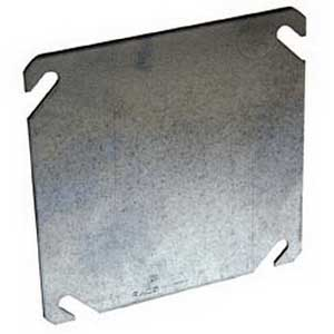 Hubbell Electrical / RACO 752 4 Inch Square Flat Blank Box Cover; Steel