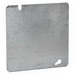 Hubbell Electrical / RACO 832 4-11/16 Inch Flat Square Blank Box Cover; 0.063 Inch Depth, Steel