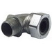 Hubbell Electrical / RACO 3792-5 90 Degree Cord Grip Connector; 1/2 Inch, 0.375 - 0.500 Inch, Malleable Iron