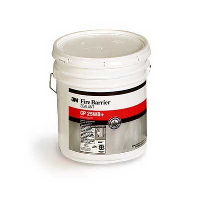 3M CP-25WB+5gal Fire Barrier Sealant; 5 gal Pail, Red