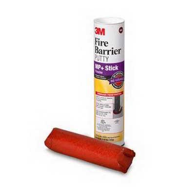 3M MP+STICK Fire Barrier Moldable Putty Stix; Dark Red
