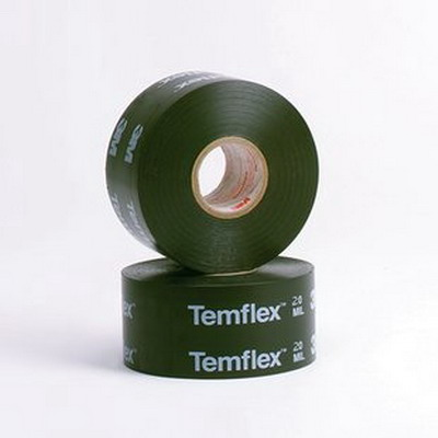 3M 1200-PRINTED-2X100FT Temflex™ 1200-Series Printed Tape; 100 ft x 2 Inch x 20 mil, PVC Backing, Black