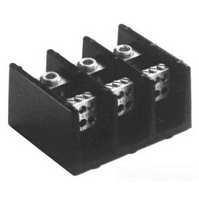 Bussmann 16021-3 Terminal Block; 175 Amp, 600 Volt AC/DC, Hole Mount, Molded Thermoplastic, Black