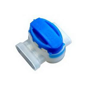 3M 314-BOX Scotchlok™ Self Stripping Pigtail; 22-14 AWG, 17.300 Inch Length x 7.100 Inch Width x 3.900 Inch Height, Blue (Minimum order qty 50x)
