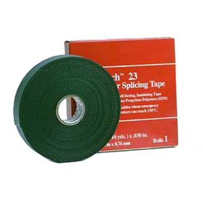 3M 23-2INX30FT Scotch® Insulating Premium Grade Splicing Tape; 30 ft x 2 Inch x 30 mil, Self-Fusing Ethylene Propylene Rubber (EPR), Black