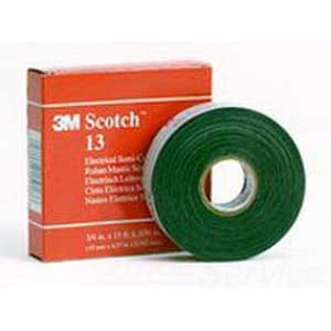 3M 13-3/4X15FT Scotch® 13-Series Premium Grade Insulating and Splicing Liner Electrical Semi-Conducting Tape; 15 ft x 3/4 Inch x 30 mil, Ethylene Propylene Rubber, Black