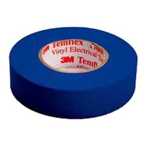 3M 1700C-BLUE Temflex™ 1700C Series Premium Grade Electrical Color Coding Tape; 600 Volt, 66 ft Length x 3/4 Inch Width x 7 mil Thick, Blue