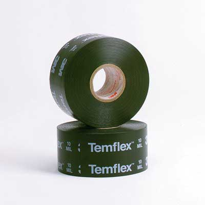 3M 1100-PRINTED-2X100FT Temflex™ 1100-Series Printed Tape; 100 ft x 2 Inch x 10 mil, PVC Backing, Black