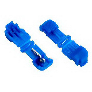 3M 952X Scotchlok™ Self Stripping Female 90 Degree Disconnector; Nylon, 0.150 Inch Dia, Blue