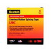 3M 130C-1X30FT Scotch® 130C Series Premium Grade Linerless Splicing Tape; 600 Volt, 30 ft Length x 1 Inch Width x 30 mil Thick, Black
