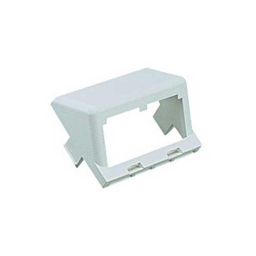 Panduit CHS2EI-X Mini-Com® Module Insert; 2-Port, 2-Module Space, 1/2 Inch, Plastic, Electric Ivory