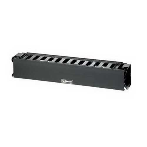 Panduit WMPHF2E PatchLink™ Front Horizontal Cable Manager; Plastic, Black, Powder-Coated