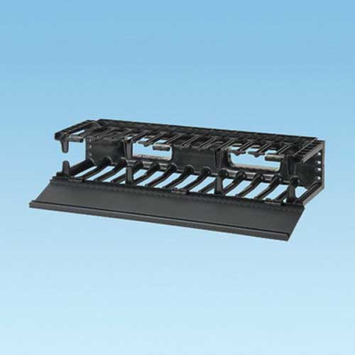 Panduit NMF2 NetManager™ High Capacity Front Horizontal Cable Manager; 2-Rack Unit, Fully Molded ABS Plastic, Black