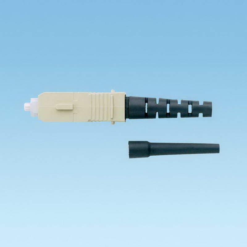 """""Panduit FSCMMBL Simplex Fiber Optic Connector SC Connection, OM1 Multimode 62.5/125um Fiber, Black,"""""" 655594"