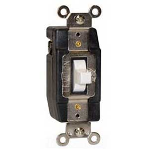 Leviton 1081-A Decora Plus Center Off AC Quiet Switch 24 Volt AC/DC  3 Amp  Momentary  Double Throw  1-Pole  Almond