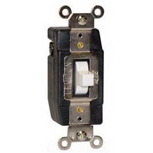 Leviton 1081-A Decora Plus Center Off AC Quiet Switch 24 Volt AC/DC  3 Amp  Momentary  Double Throw  1-Pole  Almond