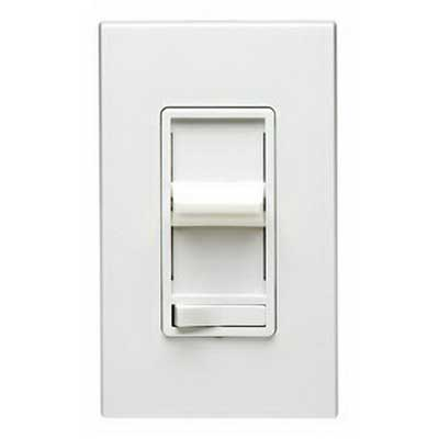 Leviton 6633-ILT Decora® and SureSlide® Start Type Preset 3-Way Dimmer; 120 Volt AC, 600 Watt, LED, 1-Pole, Light Almond