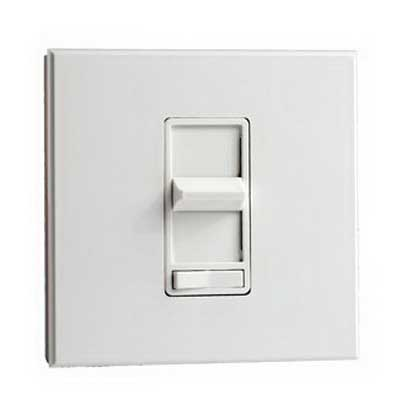Leviton 81527-W Renoir Specification Grade Electro-Mechanical Start Type Preset Dimmer 120 Volt AC 1-Pole  White