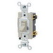 Leviton 54524-2I Specification Grade 4-Way AC Quiet Switch; 120 - 277 Volt AC, 20 Amp, Framed, Ivory