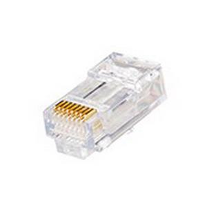 Leviton 47613-EZ6 Category 6 EZ-RJ45 Modular Plug; 1 Port, 8 Position, Polycarbonate, Clear