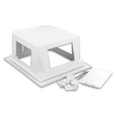 Leviton 47617-REB Recessed Entertainment Box With Frame; ABS Molded Plastic, White