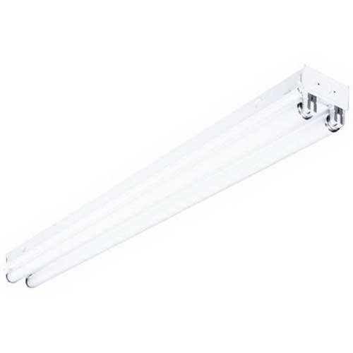 Hubbell Lighting / Columbia CS4-132-EU Standard Strip Light; 120 - 277 Volt, Steel, White, 4 ft