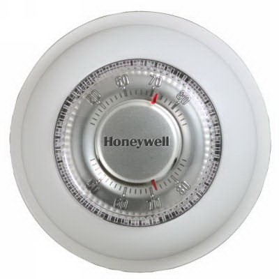 Honeywell T87N1000 Non-Programmable Thermostat; 20 - 30 Volt AC, 0.02 - 1.0 Amp Heat Current, 50/60 Hz, Premier White