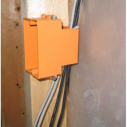 Allied Moulded LVB-1 Low Voltage 1-Gang Structured Cable Box; Thermoplastic, Orange