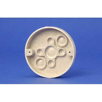 Allied Moulded 9304 Round Ceiling/Fixture Box; Thermoset-Fiberglass, 3.5 Cubic-Inch, Beige/Tan